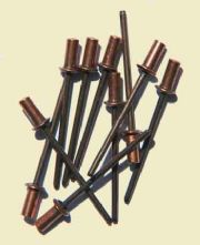 Copper Rivets. Pack of 10.